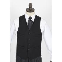 Black Terylene Wool Waistcoat