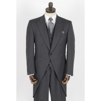 Grey Herringbone Morning Tailcoat