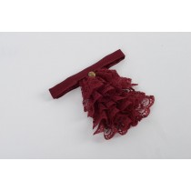 Ladies Burgundy Jabot