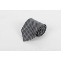 Grey Black Circle Tie, Clip On
