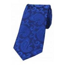 Royal Blue Paisley Self Tie