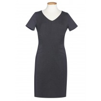 Ladies PVE Dress with V Neck