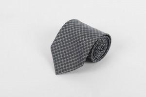 Grey Black Circle Self Tie