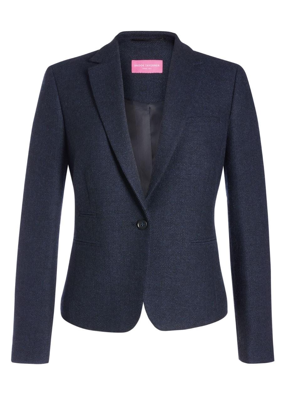 Ladies SB1 Tweed Slim Fit Jacket