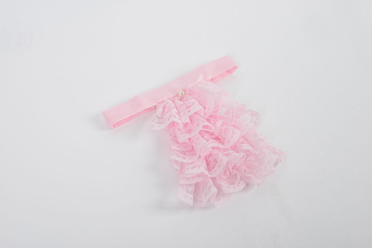 Ladies Pink Jabot
