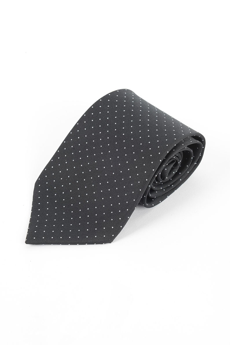 Black & White Spot Tie, Clip On