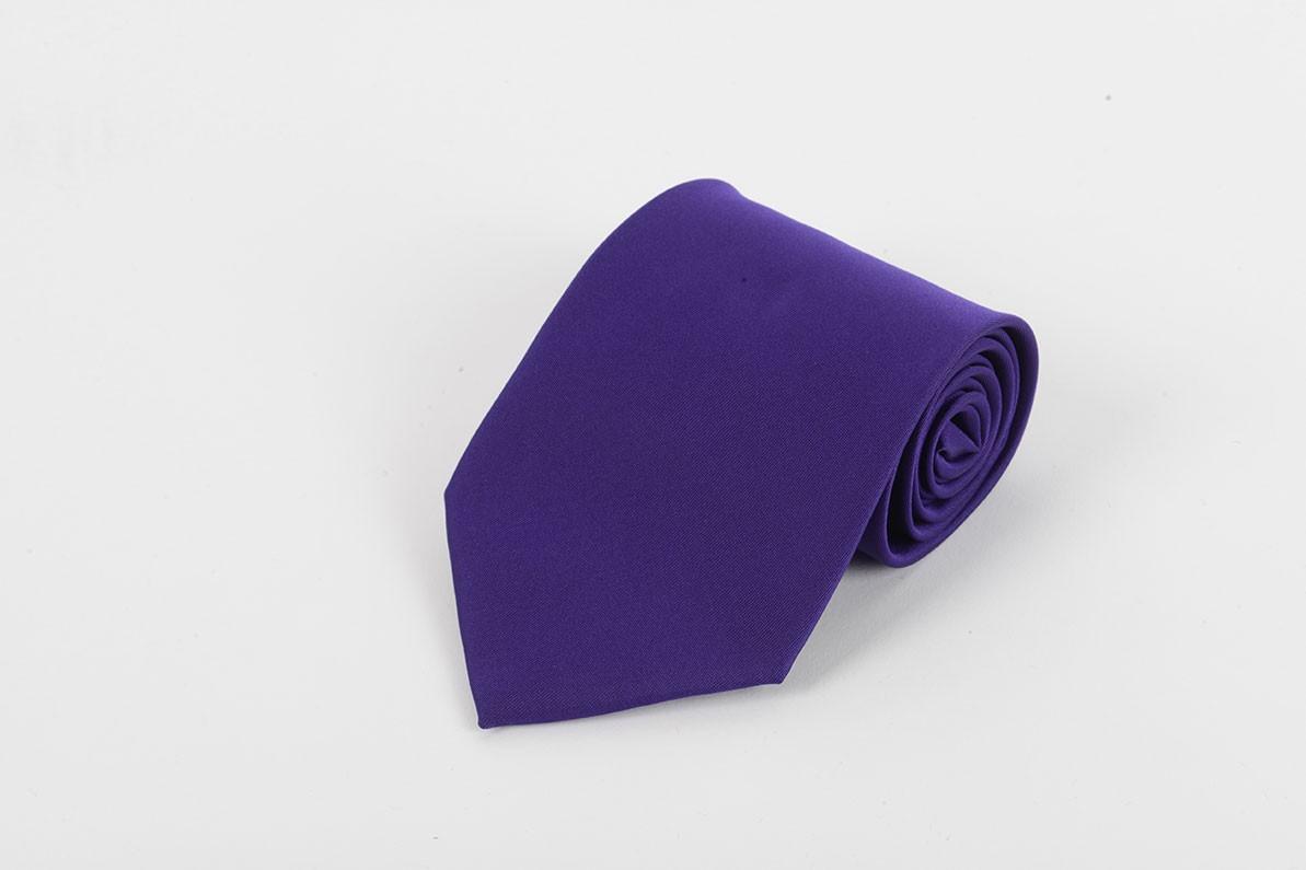 Purple Self Tie