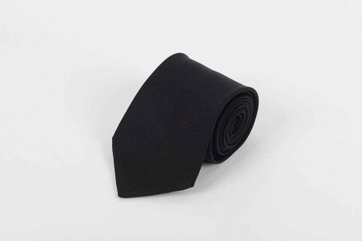 Black Self Tie