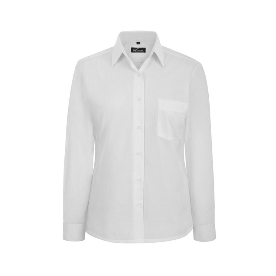 Ladies Long Sleeve Stiff Collar Blouse