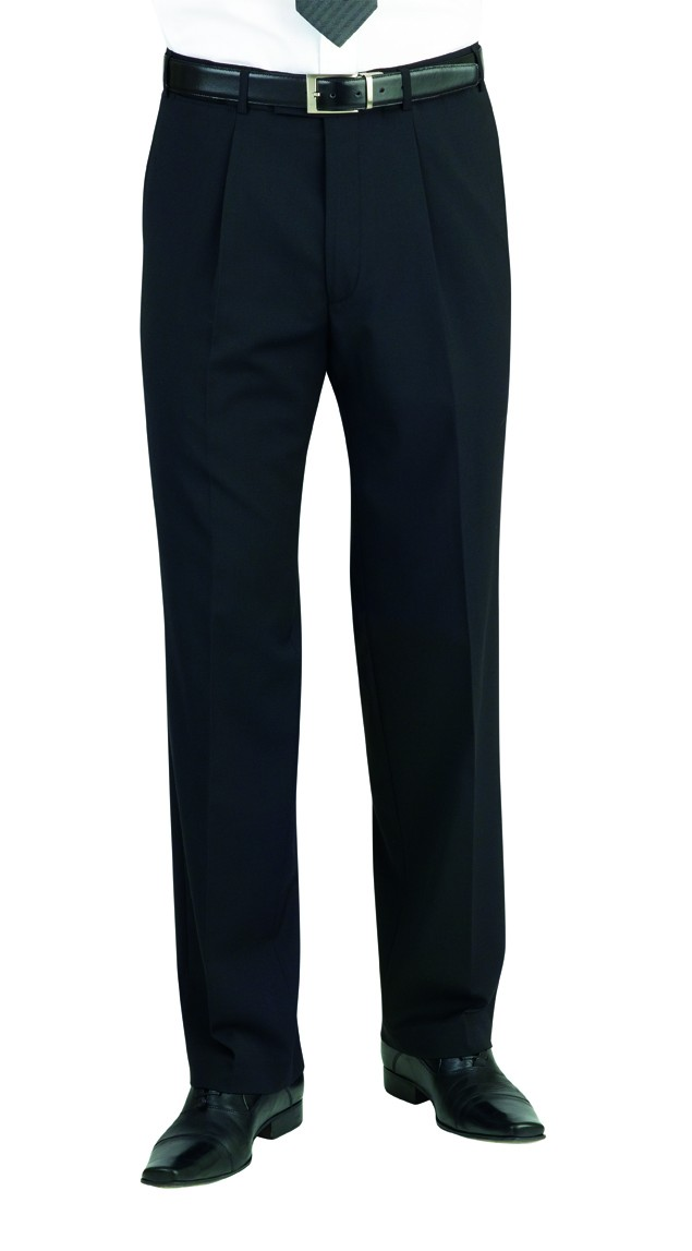 Gents Classic Fit Weft Pleated Trousers