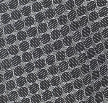 Grey Black Circle Handkerchief