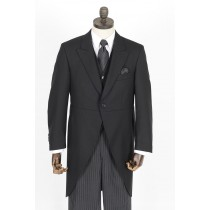 Black Herringbone Morning Tailcoat