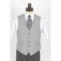 Dove Grey 100% Wool Waistcoat