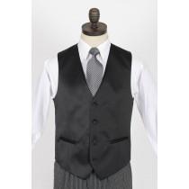 Black Satin Waistcoat