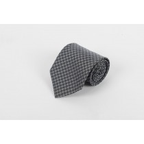 Grey Black Circle Self Tie