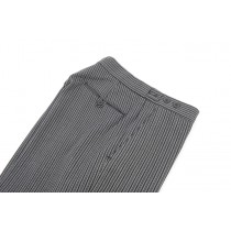 B Stripe Trousers, Flat Front