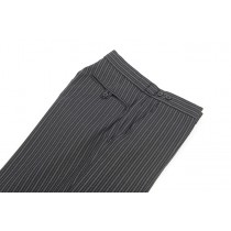 C Stripe Trousers, Flat Front