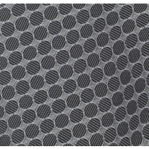 Grey Black Circle Handkerchief